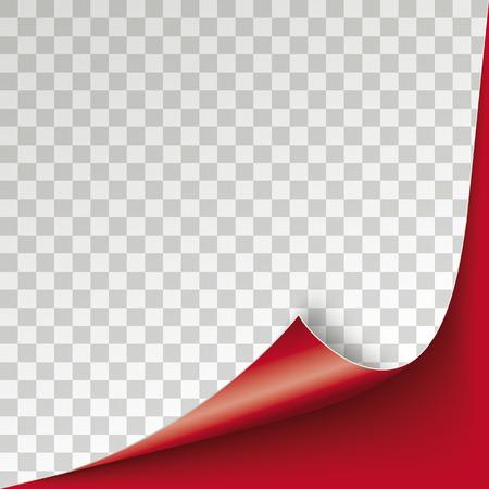チェックされた背景を持つ赤いスクロールコーナーカバー。Eps 10 ベクトルファイル。