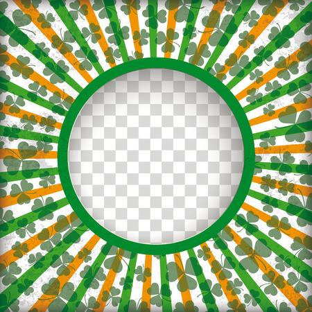 Checked background with hole, stripes, shamrocks and hole. Eps 10 vector file. Illustration
