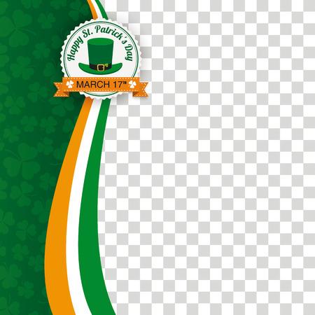 Green background for St. Patrick's Day. Eps 10 vector file. Illustration