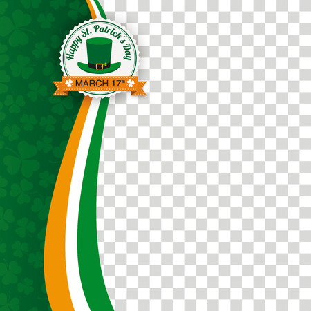Green background for St. Patrick's Day. Eps 10 vector file. Illustration