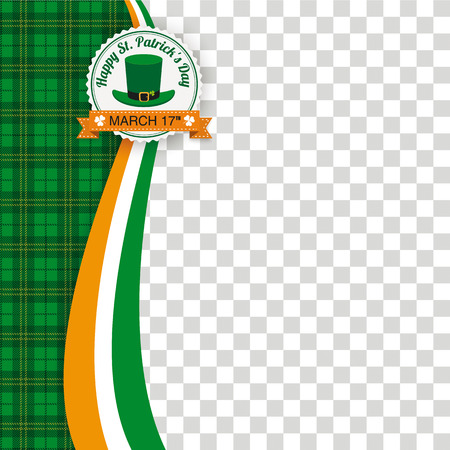 Green irish tartan background for St. Patrick's Day. Eps 10 vector file.