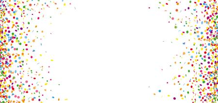 Gekleurde confetti op de witte achtergrond.