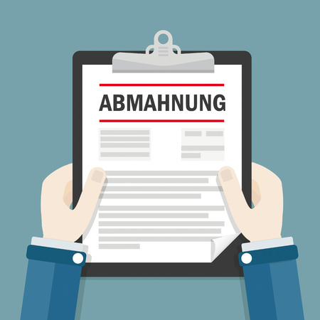 German text Abmahnung, translate Warning Letter.