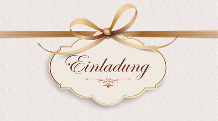 German text Einladung, translate Invitation. Eps 10 vector file.