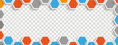 Hexagon structure with centre on the checked background. Eps 10 vector file.