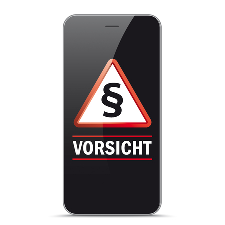 German text Vorsicht, translate Watch Out. Eps 10 vector file.  Stock Illustratie
