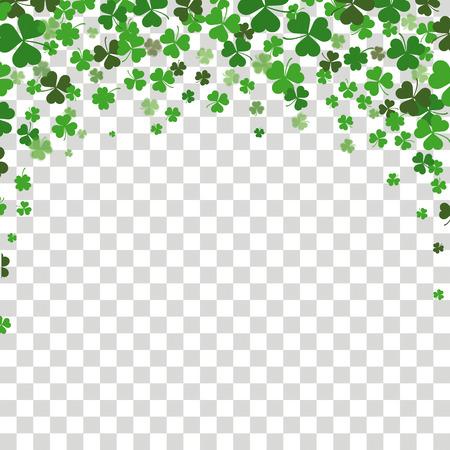Vintage cover with shamrocks for St. Patricks Day. Eps 10 vector file. Illustration