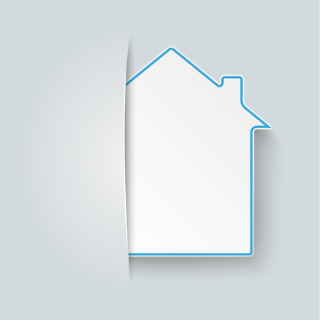Covert house on the gray background vector file. 向量圖像