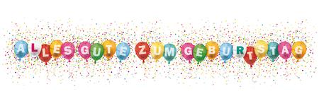 German text alles gute zum geburtstag, translate Happy Birthday vector file.