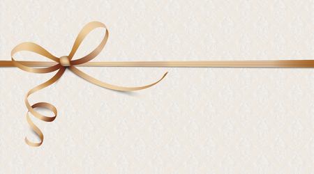 Noble ribbon wallpaper and ornaments. Eps 10 vector file.