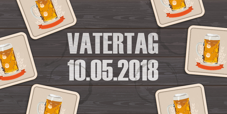 German text Vatertag, translate Fathers Day.  Eps 10 vector file.