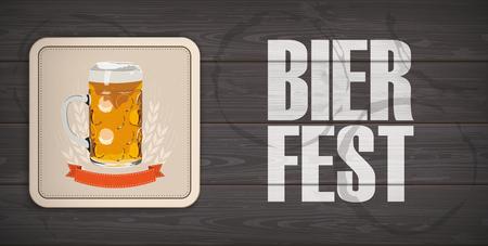 German text Bierfest, translate Beer Fest.  Eps 10 vector file. Stock Illustratie