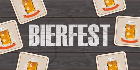 German text Bierfest, translate Beer Fest.  Eps 10 vector file. Vectores