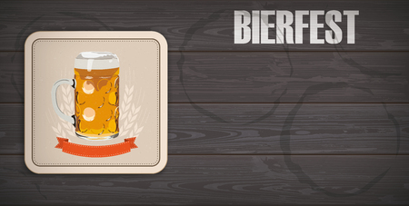 German text Bierfest, translate Beer Fest. Stock Illustratie