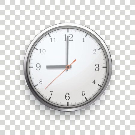 A clock with on the checked background.