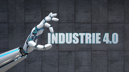 German text Industrie 4.0, translate Industry 4.0. 3D illustration. Banco de Imagens - 103043940