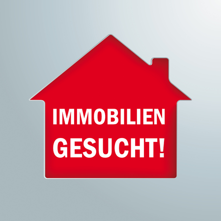 German text Immobilien Gesucht, translate Properties Wanted.