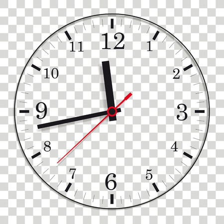 A clock on the white background. Eps 10 vector file. Illustration