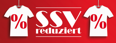 German text SSV reduziert, translate Summer Sale. vector file.