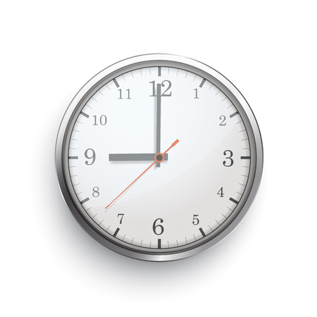 A clock with on the white background. Eps 10 vector file. Иллюстрация