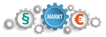 German text Markt translate as Market. Eps 10 vector file.