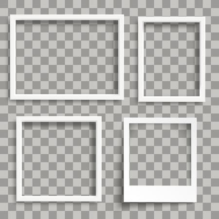 White frames on the checked background. Eps 10 vector file. Illustration