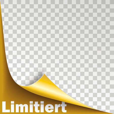 German text Limitiert, translate Limited. Eps 10 vector file. Ilustração