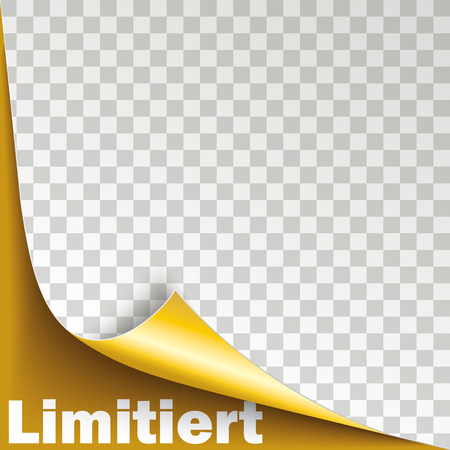 German text Limitiert, translate Limited. Eps 10 vector file. Illustration