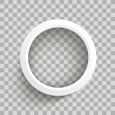 White ring on the checked background. Eps 10 vector file.