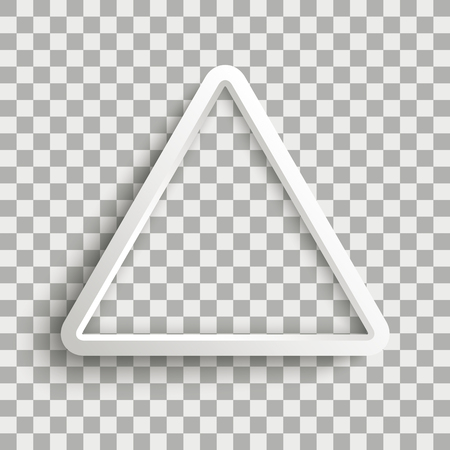 White triangle on the checked background. Eps 10 vector file. Çizim