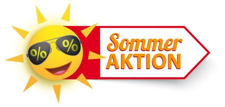 German text Sommer Aktion, translate Summer Sale.