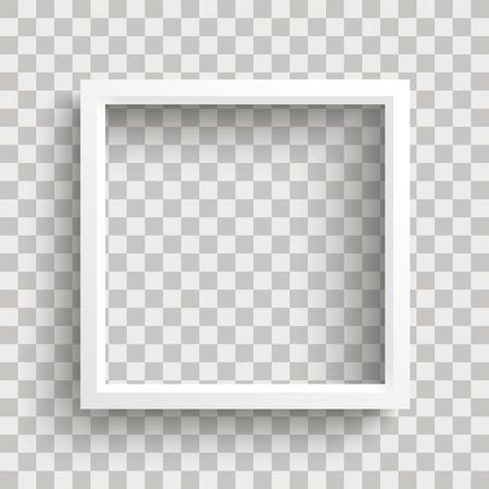 marco blanco en el fondo controlado . vector eps 10 incluido