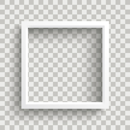 White frame on the checked background. Eps 10 vector file.