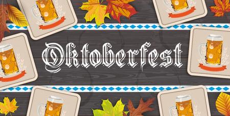 German text Oktoberfest, translate Octoberfest.  Eps 10 vector file.