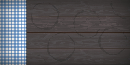 Banner with beer imprint on the dark wooden background.  Eps 10 vector file.