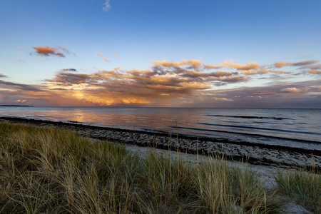 The Baltic Sea in Sweden, Beddingestrand at the evening.
