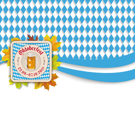 Oktoberfest design on the white background. German text O zapft is and Oktoberfest, translate on tap and Oktoberfest. Eps 10 Illustration