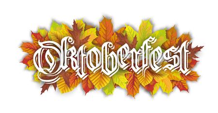 Oktoberfest header with autumn foliage.  Eps 10 vector file.