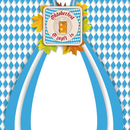 Oktoberfest design on the white background. German text