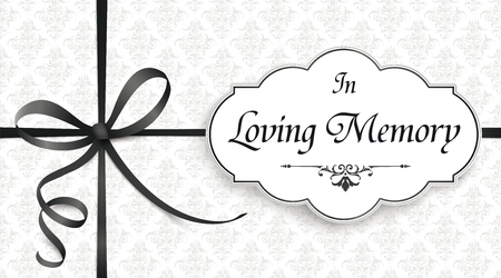 Obituary with the text In Loving Memory. Eps 10 vector file. 版權商用圖片 - 109262282