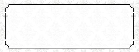 Striscione necrologio con cornice nera e croci. File vettoriale eps 10.