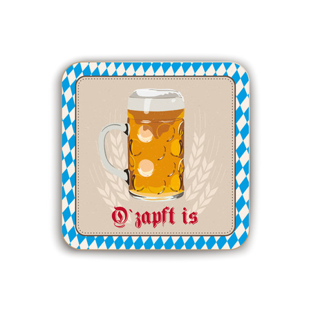 German text O zapft Is, translate On Tap.  Eps 10 vector file. Stock Illustratie