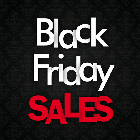 Black friday cover the text Black Friday Sales. Eps 10 vector file.