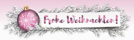 German Text Frohe Weihnachten, translate Merry Christmas. Eps 10 vector file.