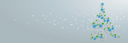 Abstract christmas tree on the gray background. Eps 10 vector file.