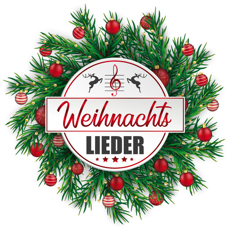 German text Weihnachtsangebote, translate Christmas Offers.  Eps 10 vector file. Illustration