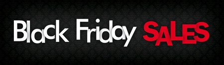 Banner with the text Black Friday Sales. Eps 10 vector file.