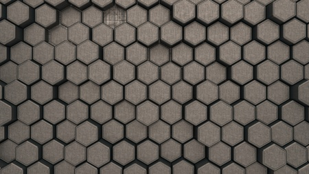 Metall hexagon structure background. 3d illustration.