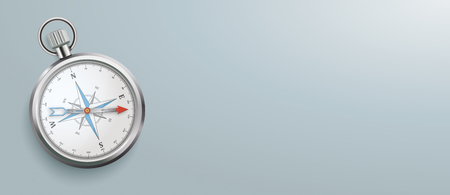 Compass on the gray background. Eps 10 vector file. Banque d'images - 125778469
