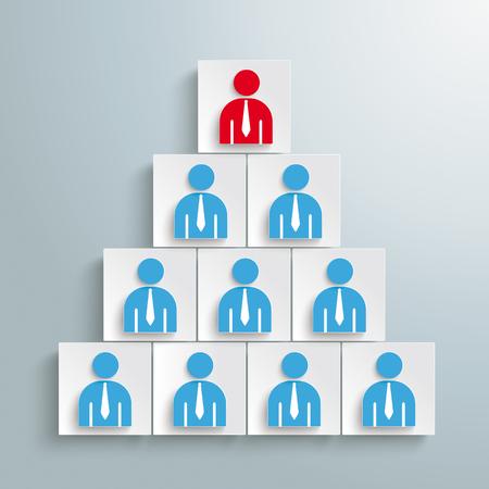 Eine Präsentation des Personalmanagements. EPS-10-Vektordatei. Vektorgrafik
